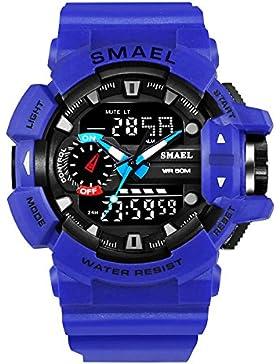Mode Herren Sportuhr Wasserdichte Kinder Jungen Mädchen Digital Uhr mit Alarm Chronograph Datum