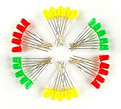 Robo India 5mm LED, 10 Pieces Each (Red, Yellow, Green)
