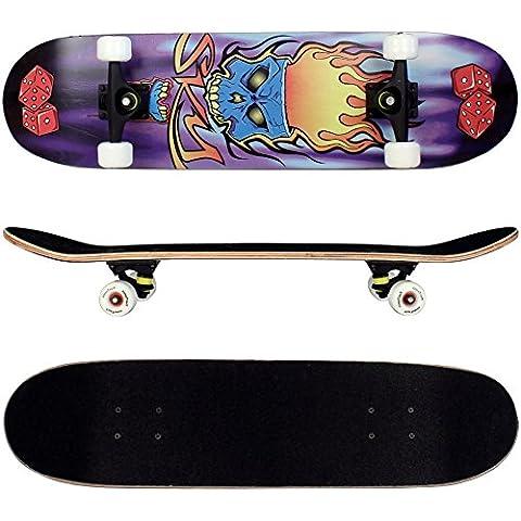 FunTomia® - Skateboard con cuscinetti a sfera ABEC-11 e ruote 92A in legno d'acero a 9 strati