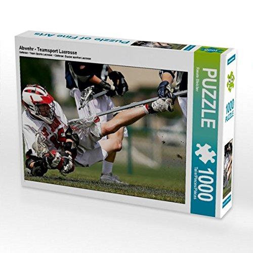 Abwehr - Teamsport Lacrosse 1000 Teile Puzzle quer (CALVENDO Sport) (Postkarte La Crosse)