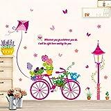 RALCAN Bonsai Bike Wandaufkleber Für Kinderzimmer Baby Kindergarten Mädchen Schlafzimmer Dekorationen Wandtattoos Kunst Home Vinyls Kinder