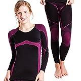 Damen Sport Funktionswäsche Set - Seamless (Hemd &Hose) - von celodoro - Ski-, Thermo- & Funktionsunterwäsche ohne störende Nähte - verschiedene Farben