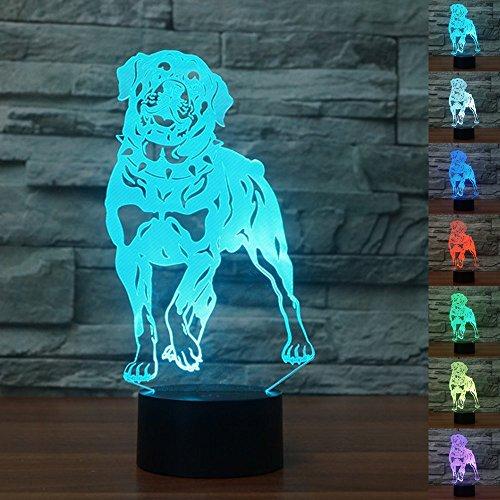 Reizendes Nachtlicht des Hund3d führte Usb-Fernnoten-Jagdhund-Tier-Tabellen-Lampen-Haustier 3d Lampe 7 Farben-Lampe (Tabelle Haustier)