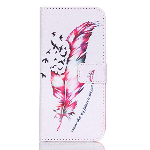 Cover per iPhone 6s Plus Custodia Protettiva in Pelle PU,TOCASO Podello Colorato Ultra Morbido Bookstyle Cover Flip Wallet Case con il Supporto di Carta Pouch Magnete Stand View Caso per iPhone 6 Plus Birds