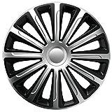16 Zoll Bicolor Radzierblenden TREND RC DC (Silber/Schwarz). Radkappen passend für fast alle VW Volkswagen wie z.B. Passat!