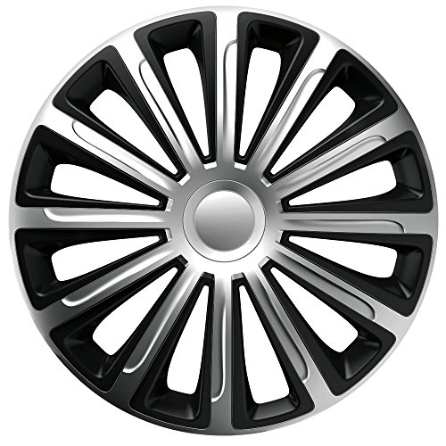 14 Zoll Bicolor Radzierblenden TREND RC DC (Silber/Schwarz). Radkappen passend für fast alle VW Volkswagen wie z.B. Polo 6R!