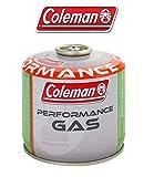 BOMBOLETTA Cartuccia A Gas Coleman C300 Performance A Filetto con 240 GR di Gas (Mix BUTANO/PROPANO) per Tutti I Prodotti Coleman con CONNESSIONE A Vite