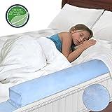 Kinder Bettgitter aufblasbar Bettschutzgitter Rausfallschutz für Babybett Bettausstattung (Blau)