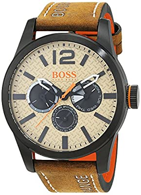 Hugo BOSS Paris Mens Quartz Chronograph Brown Leather Strap 1513237