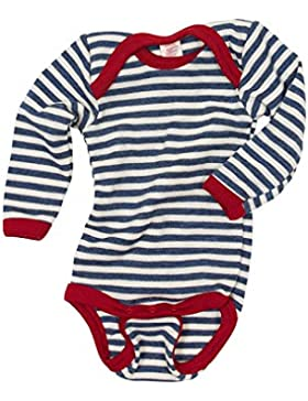 Engel Baby Body langarm, Wolle maschinenw Natur, 2 Farben, 50/56-110/116