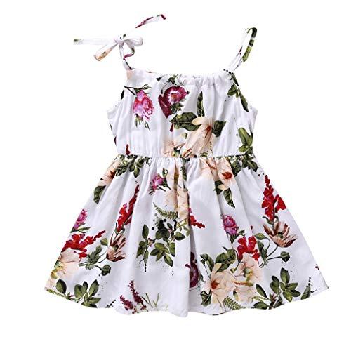 Festliche Kleider Kinder Sommerkleid Baby Mädchen Kleider Blumendruck Geraffte Kleid Sommerkleid Freizeitkleidung Pwtchenty Bekleidung Outfits Kleidung Princess Dress Baby Kleidung Mädchen 1-5y