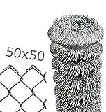 Rete per recinzione metallica in rotolo da 25mt zincata a maglia sciolta filo mm 1,7 altezza rete CM 150 H Maglia mm 50x50 Cartomatica Confezione da 1PZ