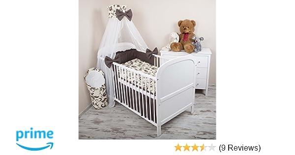 Amilian® baby bettwäsche 5tlg bettset mit nestchen kinderbettwäsche