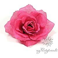 NET TOYS Rosen Haarschmuck Ansteckblume Rose pink Blumen Haarbl/üte Rosenbl/üte Haarspange Blumenspange Haar Clip Kopfschmuck Haarblume