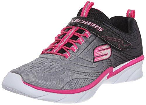 Skechers Swirly Girl Shine Vibe, Mädchen Sneaker, Schwarz - Schwarz - Schwarz - Größe: 37 (Mädchen Swirly)
