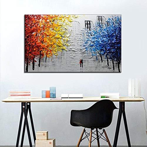 YB Master - Schlafzimmer Hotels Reiner handgemaltes Ölgemälde dekorative Malerei Bett, 60x120cm, handgemalte Ölgemälde - Master-schlafzimmer Bett