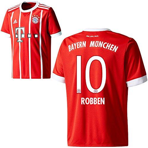 nchen FCB Home Trikot 2017 2018 Herren Kinder mit Spieler Name rot Farbe Robben, Größe M (Sport-fan-bekleidung)