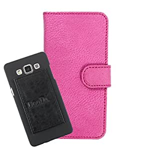DooDa PU Leather Wallet Flip Case Cover With Card & ID Slots For Intex Cloud Y2 - Back Cover Not Included Peel And Paste