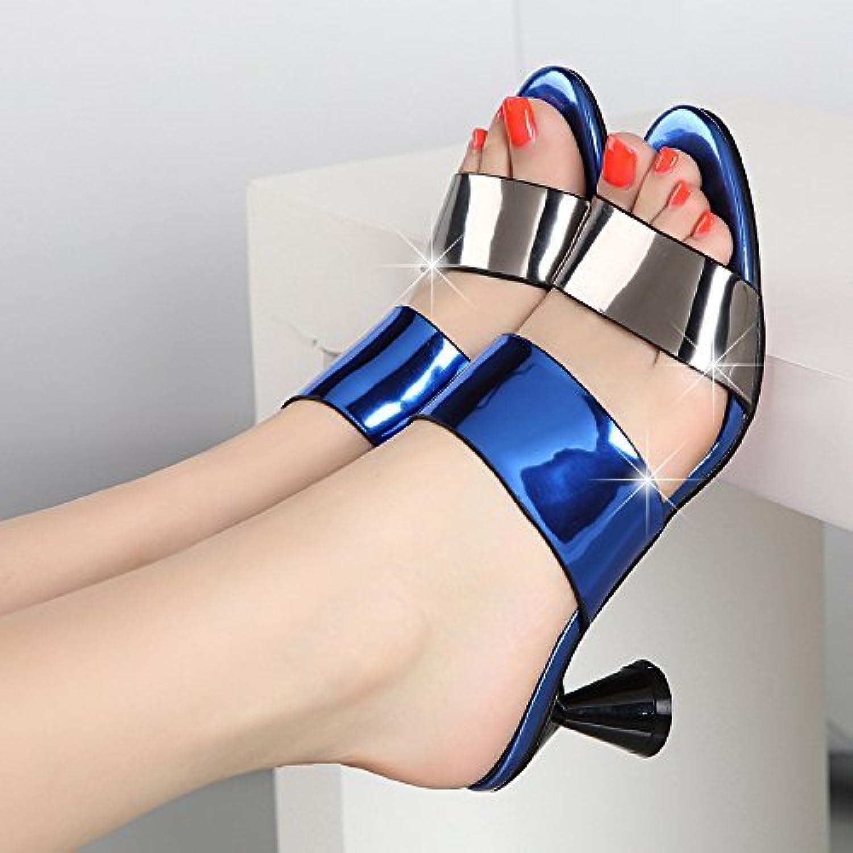 Tongs pour Femmes Boucle à avec Talon Haut épais avec à Bleu Respirant 7.5 US / 38 EU / 5 UK (coloré : comme montré,... 53d0a1