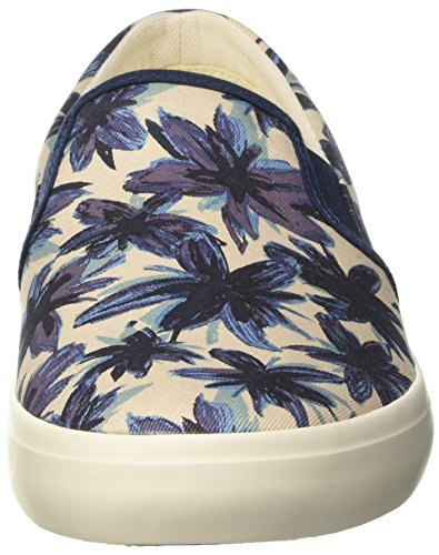 Timberland Herren Newport Bay Canvas Plainblack Iris Tropical Print Sneakers Schwarz (Black Iris Tropical Print)