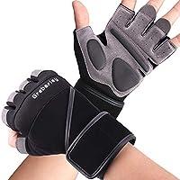 Grebarley Fitness Handschuhe,Trainingshandschuhe,Gewichtheben Handschuhe mit Handgelenkstütze und Palm Schutz,Crossfit,Bodybuilding,Sporthandschuhe für Damen&Herren