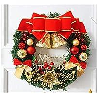 Hermosa decoración navideña La Navidad de la Guirnalda de la Guirnalda del Nudo del Arco Que cuelga adorna los Colgantes del árbol de Navidad del Sitio para ...