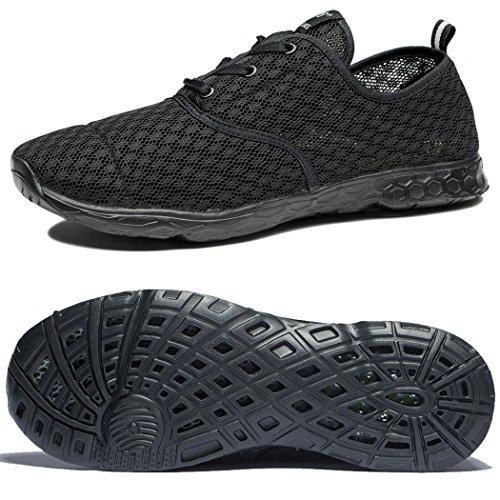 NewDenBer NDB Unisex Damen Herren Mesh Schnell Trocknender Aqua Wasser Schuhe (40 EU, Schwarz (All Black)) (Wasser-schuh Damen)