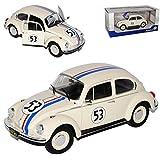 VW Volkswagen Käfer 1303 Beetle Racer Herbie Nr 53 The Love Bug 1962 1/18 Solido Modell Auto mit oder ohne individiuellem Wunschkennzeichen