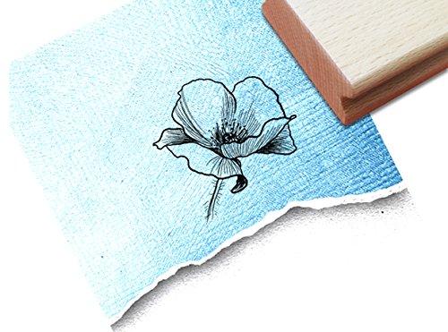 Stempel - Blume MOHNBLUME Fineline Florale - Wunderschöner Motivstempel für kleine und große Hände - Bildstempel von zAcheR-fineT