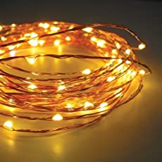 TONY STARK Copper String USB LED Lights, Fairy,Garden, Decoration Party Wedding Diwali Christmas Copper String Lights (50 LED 5m)
