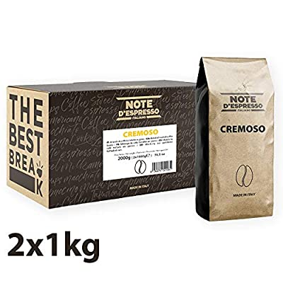 Note d'Espresso Cremoso Coffee Beans 1000g x 2 pack from CafèMoka srl