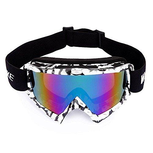 Movaty Skibrille Snowboardbrille Snowboard Skibrillen UV-Schutz Anti-Fog Skibrille Für Damen Und Herren Jungen Und Mädchen