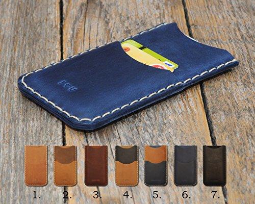 Cover per BlackBerry Personalizzata Portafogli con taschino per carta di credito Pelle bovina Cover in (Tipo Taschino)