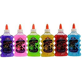 Elmer's Washable Glitter Glue, 6 oz Bottles, 6-Pack, Green/Pink/Purple/Red/Yellow/Blue by Elmer's