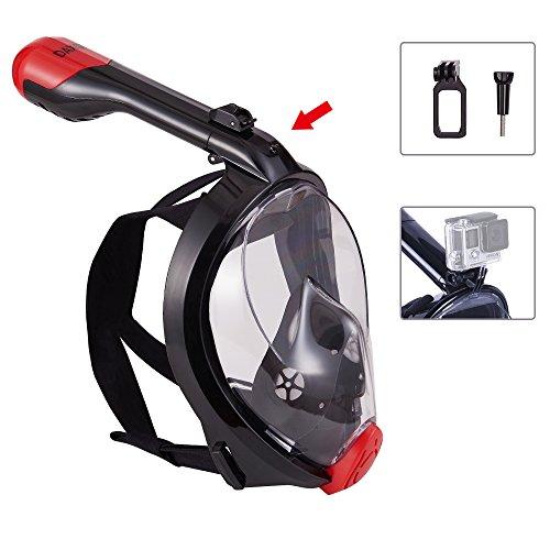 DAXGD Faltbare Tauchmaske Full Face Panoramic Face Maske, Anti-Leck und Anti-Fog, für Erwachsene und Jugend konzipiertDAXGD Full-Face Panorama Gesichtsmaske Faltbare Tauchmaske, Anti-Leck und Anti-Fog, für Erwachsene und Jugend konzipiert (L/XL) (Full-face Bmx Helme)