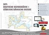 Sportbootkarten Satz 1, 2 und 4 – Set: Deutsche Ostsee und Südliche dänische Ostsee (Ausgabe 2017)