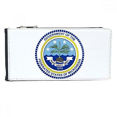 DIYthinker Mikronesien National Emblem Multi-Card-Leder-Rechteck-Mappen-Karten-Geldbeutel-Geschenk (Karte Von Mikronesien)