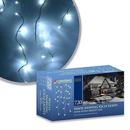 Eiszapfen Lichterkette weiß mit ULTRA BRIGHT LED 720Leuchtmittel