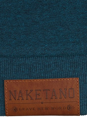 Naketano Male Zipped Jacket Dirty Schwarzkopf Dirty Fresh Blue Melange