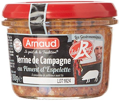 Arnaud Terrine de Campagne au Piment d'Espelette 180 g