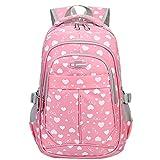 Bebone Mochila Escolar para Niñas Estudiantes Bolso Colegio Impermeable (rosado)