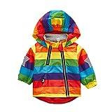 GGBaby@ Mädchen Jacke Leicht Dünn Winddicht Farbenfrohe Kapuzenjacke Kinder Babay Windjacke 80
