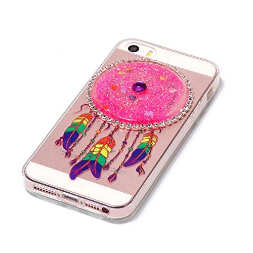 iPhone 5S Hülle, iPhone SE Hülle, Gift_Source [ Rot ] Ultra Dünn Weiche Silikon Schutzhülle TPU Bumper Case Schutz Handy Hülle Case Tasche Etui Backcover Slim case für iPhone SE/5/5s E1-Rosa