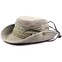 Gorra de pescador veraniega de algodón bordado para hombre visera sombrero  de malla tapasol para al eb85a47ecfa