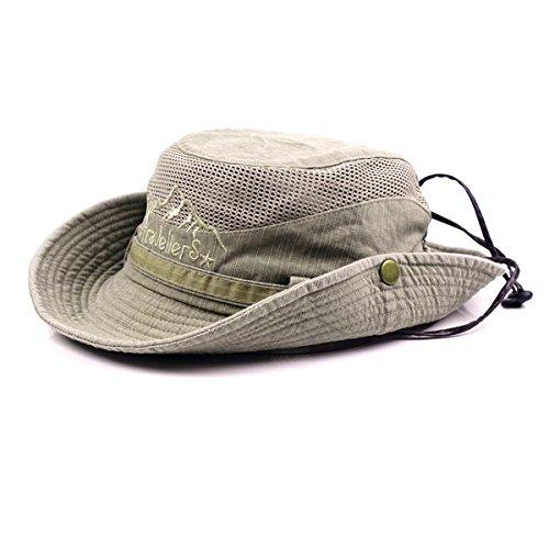 Gorra de pescador veraniega de algodón bordado para hombre visera sombrero  de malla tapasol para al 6479b500d1f