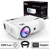 DR.Q 2600 Lux Proyector, mini Proyector, 50000 Horas, Proyector de Vídeo compatible con 1080P,...