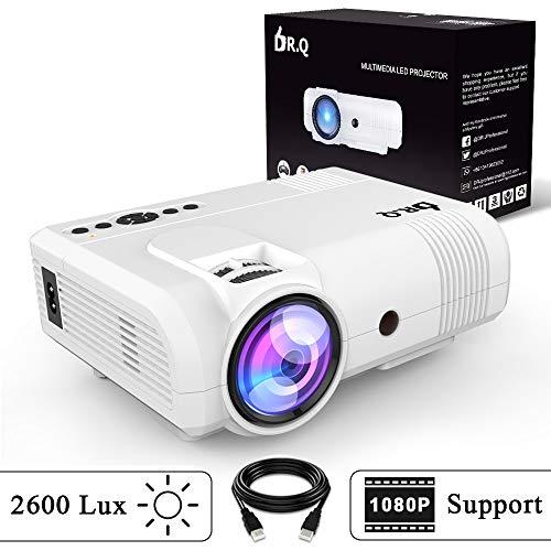 DR.Q L8 Projecteur, Rétroprojecteur de 2600 Lux, Mini Projecteur, Vidéoprojecteur supportant 1080P...