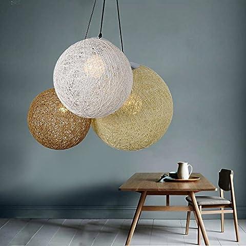FULL Semplice Creativo lampada a sospensione per la decorazione, casa, bar, ristorante,club, etc palla moderna del rattan , b, senza luce