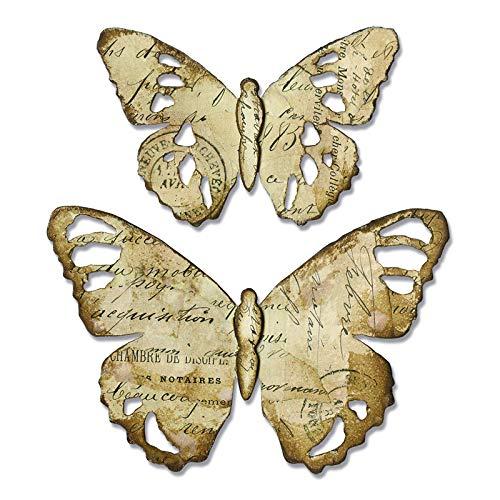 Sizzix Farfalla sbrindellata Fustella, Multicolore, taglia unica