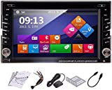 Windows 8 OS Car Radio with HD Digital Touch Screen 6.2 inch Double Din In Dash GPS Navigation Car Stereo Car DVD Player Support Sat Nav USB SD Bluetooth Mp3 Auto Radio Multimedia System